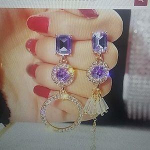 Special design! Crystal earrings drop dangle stud